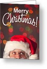 Merry Christmas Santa Card Greeting Card