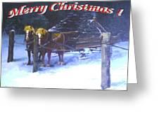 Merry Christmas Sleigh Greeting Card