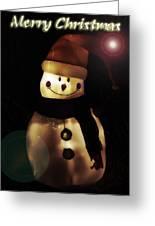 Merry Christmas Snowman  Greeting Card