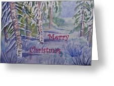 Merry Christmas - Snowy Winter Path Greeting Card