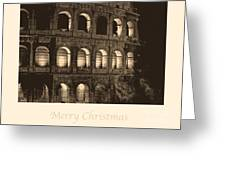 Merry Christmas With Colosseum Greeting Card