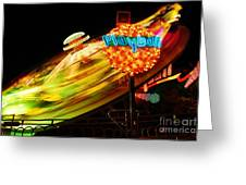 Merry-go-round By Night Greeting Card