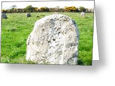 Merry Maidens Stone Circle Cornwall Greeting Card