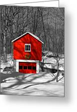 Merry Red Bw Greeting Card