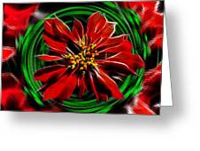 Merry Xtmas - Poinsettia Greeting Card
