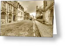 Merton Street Oxford Greeting Card