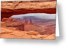 Mesa Arch In Canyonlands National Park Greeting Card