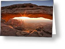 Mesa Arch Morning Greeting Card by Andrew Soundarajan