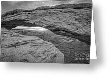 Mesa Arch Sunrise Bw Greeting Card