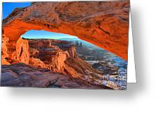 Mesa Sunrise Glow Greeting Card