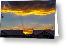 Mesa Sunset Greeting Card