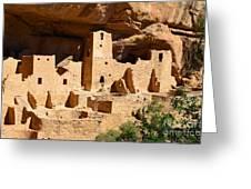 Mesa Verde National Park Cliff Palace Pueblo Anasazi Ruins Greeting Card