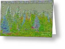 Meshed Tree Abstract Greeting Card by Liane Wright