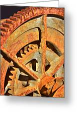 Meshing Gears Greeting Card by Phyllis Denton