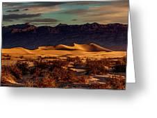 Mesquite Flat Sunrise Greeting Card