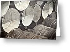 Metal Barrels 1bw Greeting Card