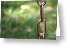 Metal Chain Greeting Card