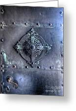 Metal Door Greeting Card