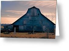 Metal Faced Barn Greeting Card