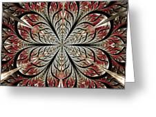 Metal Flower Greeting Card