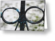 Metal Gates Fragment Greeting Card
