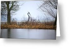 Metal Heron Greeting Card