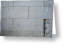 Metal Silo With Door Greeting Card