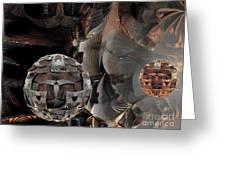 Metal Spheres Greeting Card by Bernard MICHEL