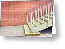 Metal Stairs Greeting Card