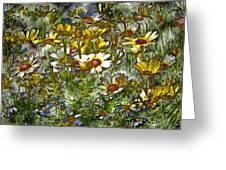 Metal Sunflowers Greeting Card