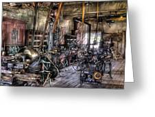 Metal Worker - Belts And Pullies Greeting Card