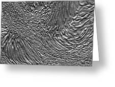 Ice - Metallic Ice Greeting Card