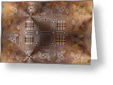 Metallic Pattern Greeting Card