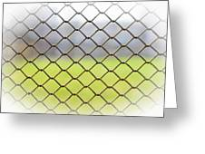 Metallic Wire Fence Greeting Card