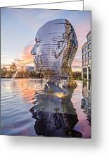 Metalmorphosis Statue Charlotte Nc Greeting Card