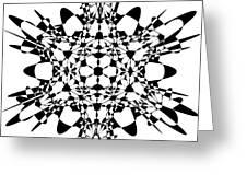 Metatron Cube A Version Greeting Card