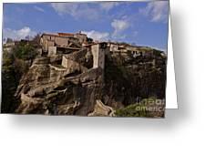 Meteora Monastary   #9793 Greeting Card