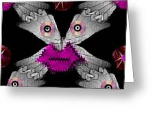 Meteoroid Creature  Coming From Comets And Androids Pop Art Greeting Card by Pepita Selles