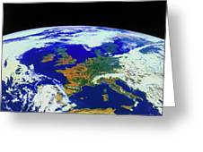 Meteosat Image Of Europe Greeting Card