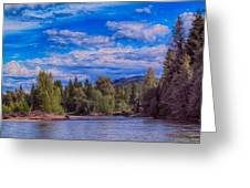 Methow River Crossing Greeting Card