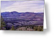 Methow River Valley Via Sun Mtn Lodge Greeting Card by Omaste Witkowski