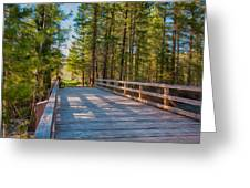 Methow Valley Community Trail At Wolf Creek Bridge Greeting Card by Omaste Witkowski