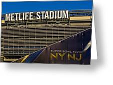 Metlife Stadium Super Bowl Xlviii Ny Nj Greeting Card