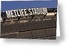 Metlife Stadium Greeting Card