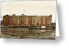 Metropolitan Wharf Wapping London About 1980 Greeting Card