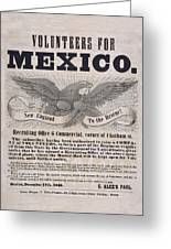 Mexican American War Flyer Greeting Card