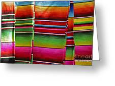 Mexican Blankets Cancun Greeting Card