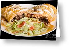 Mexican Burrito Plate 2 Greeting Card