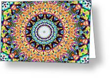Mexican Ceramic Kaleidoscope Greeting Card