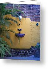 Mexican Courtyard Greeting Card